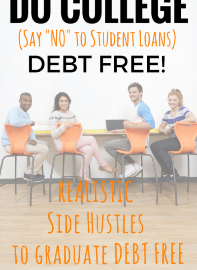 COLLEGE DEBT FREE NO STUDENT LOANS MAKE MONEY SIDE JOBS