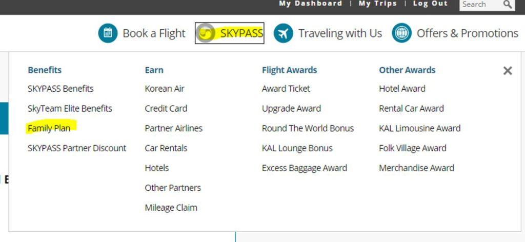 Korean Airlines SkyTeam Members Family Plan