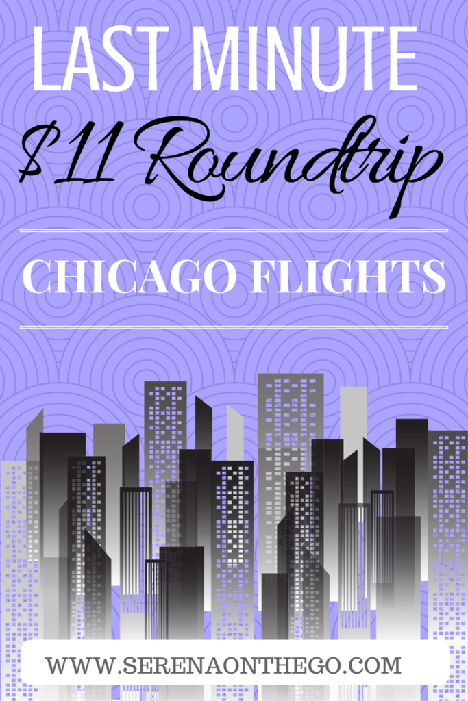 Last minute mother s day weekend flight to chicago for 11 for Round trip flight to chicago