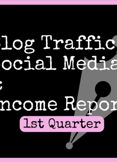 Blog Income, Traffic and Social Media Report. 3 Month NEW Blog.